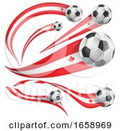 3d Canadian Flag Soccer Ball Banners