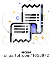 Icon Of Receipt Or Packing Slip For Shopping And Retail Concept