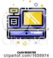 Icon Of Cash Register For Shopping And Retail Concept