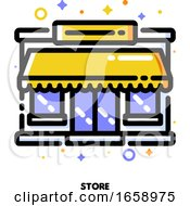Icon Of Store Facade Or Market Exterior For Shopping And Retail Concept