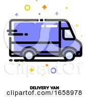 Icon Of Delivery Van Which Symbolizes Local Delivery Service Or Fast Shipping For Shopping And Retail Concept