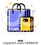 Icon Of Shopping Bags For Retail And Consumerism Concept