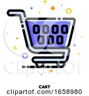 Icon Of Shopping Cart For Retail And Consumerism Concept