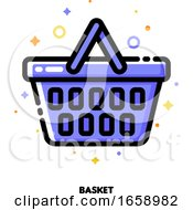 Icon Of Shopping Basket For Retail And Consumerism Concept