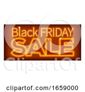 Black Friday Sale Orange Neon Sign