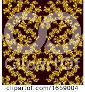 Poster, Art Print Of Floral Motif Scroll Pattern Seamless Tile