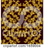 Floral Motif Scroll Pattern Seamless Tile
