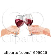 Poster, Art Print Of People Toasting With Wine