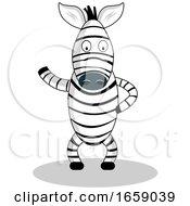 Zebra Presenting