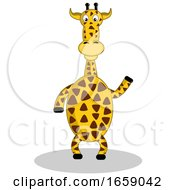 Giraffe Waving Or Presenting