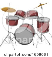 Vector Of Drum Set