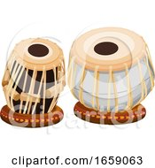 Vector Of Hand Drum