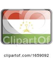 Vector Illustration Of Tajikistan Flag