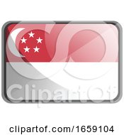 Vector Illustration Of Singapore Flag by Morphart Creations