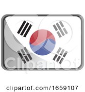 Vector Illustration Of South Korea Flag