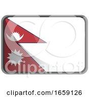 Poster, Art Print Of Vector Illustration Of Nepal Flag
