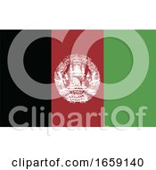 Poster, Art Print Of Vector Illustration Of Afghanistan Flag On Whte Background