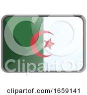 Vector Illustration Of Algeria Flag On Whte Background