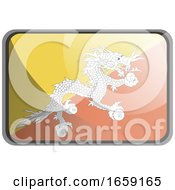 Vector Illustration Of Bhutan Flag