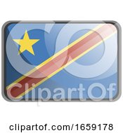 Vector Illustration Of Democratic Republic Of Congo Flag
