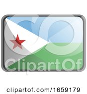 Vector Illustration Of Djibouti Flag