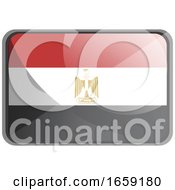 Vector Illustration Of Egypt Flag