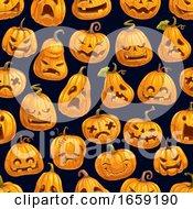 Halloween Holiday Pumpkin Seamless Pattern
