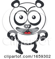 Cartoon Angry Panda