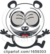 Cartoon Celebrating Panda