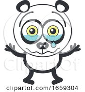 Cartoon Crying Panda