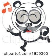 Poster, Art Print Of Cartoon Dancing Panda
