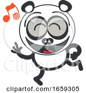 Cartoon Dancing Panda