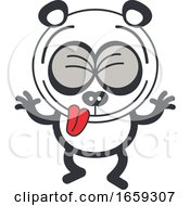 Cartoon Silly Panda Making Funny Faces