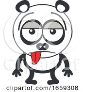 Cartoon Indifferent Panda