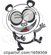 Cartoon Laughing Panda