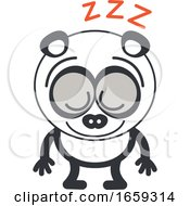 Cartoon Sleeping Panda by Zooco