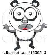 Cartoon Surprised Panda by Zooco #COLLC1659315-0152