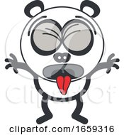 Cartoon Sick Panda