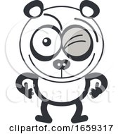 Cartoon Winking Panda by Zooco