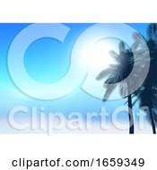 Summer Palm Trees Background
