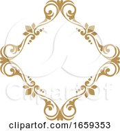 Poster, Art Print Of Gold Decorative Frame