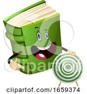 Cartoon Book Characteris Holding Target