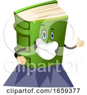 Cartoon Book Characteris Showing Ok Sign With Hand