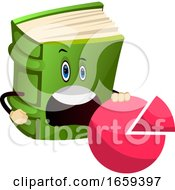 Cartoon Book Character Is Holding Success Sign Diagram