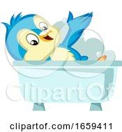 Blue Bird In The Bathtub by Morphart Creations