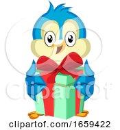Blue Bird Holds A Present by Morphart Creations