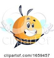 Happy Yellow Waving Bee