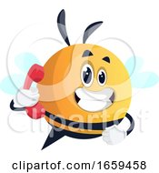 Bee Talking On The Phone