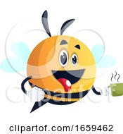 Bee Holding A Cup Bee Holding A Cup Of Coffee Be Holding A Cup Of Tea