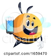 Bee Using A Smartphone